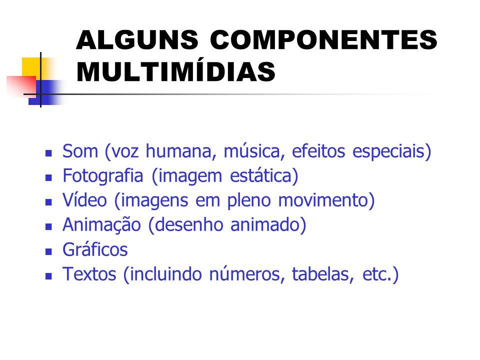 ALGUNS COMPONENTES MULTIMÍDIAS
