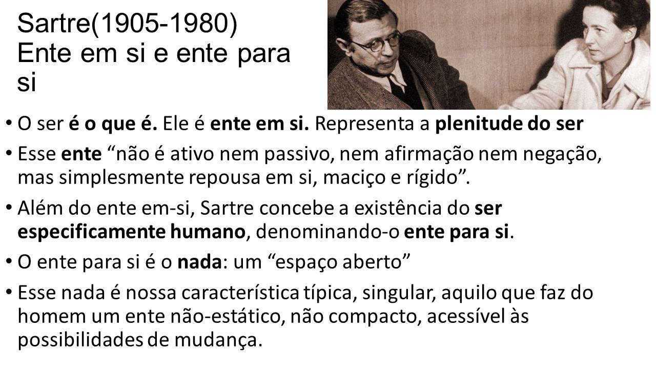 Sartre(1905-1980) Ente em si e ente para si
