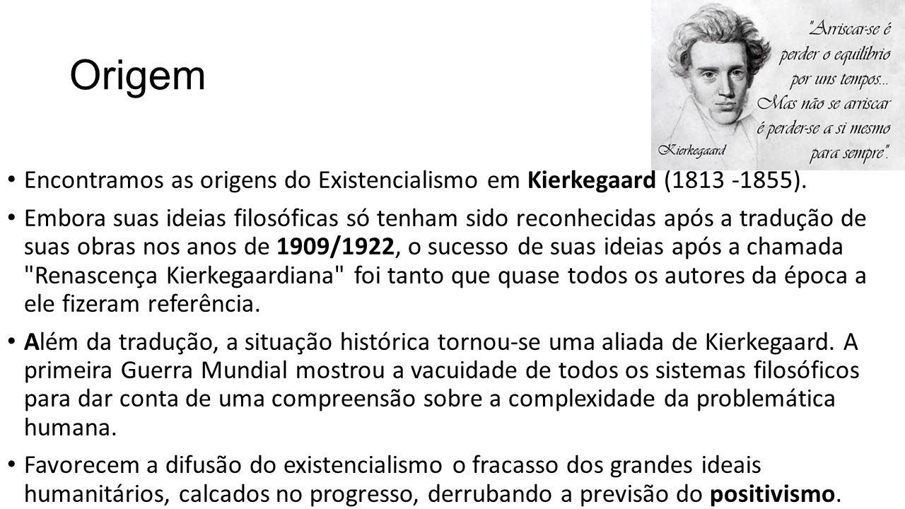 Origem Encontramos as origens do Existencialismo em Kierkegaard (1813 -1855).