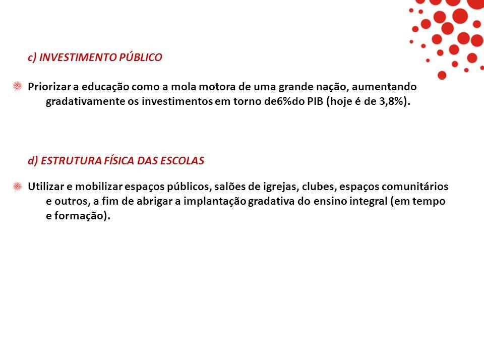 c) INVESTIMENTO PÚBLICO