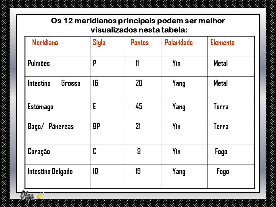 Os 12 meridianos principais podem ser melhor