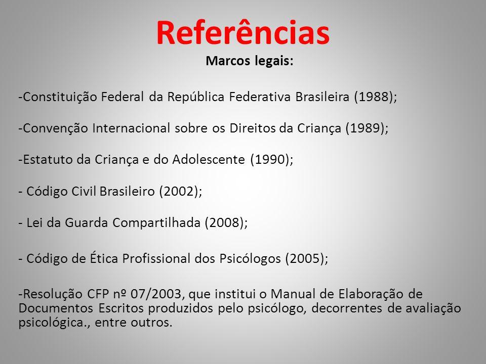 Referências Marcos legais: