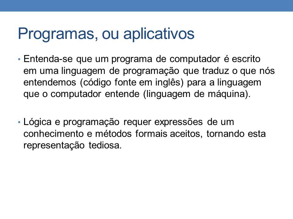 Programas, ou aplicativos