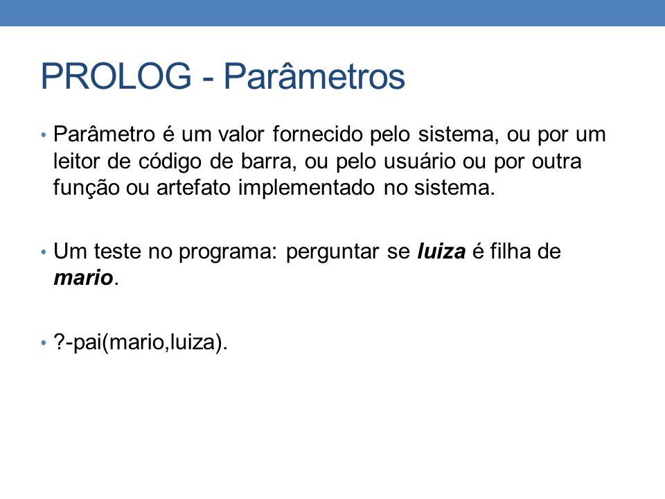 PROLOG - Parâmetros