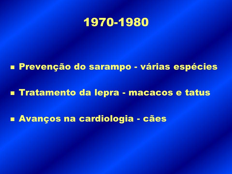 1970-1980 Prevenção do sarampo - várias espécies