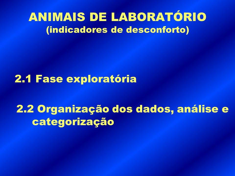 ANIMAIS DE LABORATÓRIO (indicadores de desconforto)