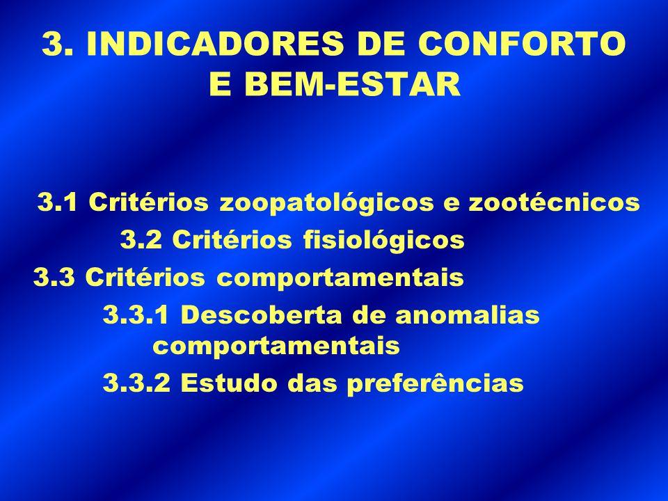 3. INDICADORES DE CONFORTO E BEM-ESTAR