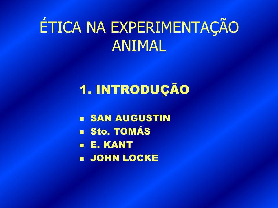 ÉTICA NA EXPERIMENTAÇÃO ANIMAL