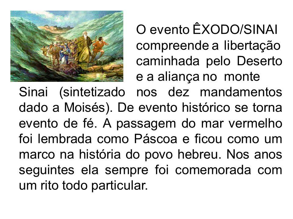 O evento ÊXODO/SINAI
