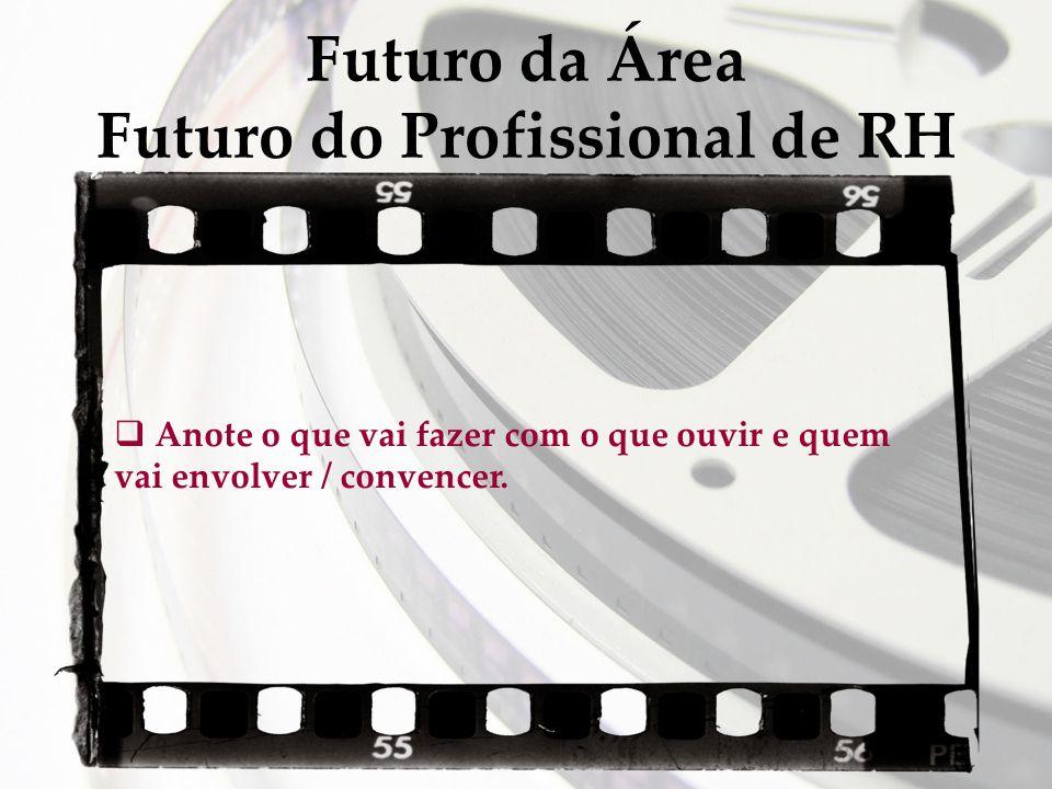 Futuro da Área Futuro do Profissional de RH