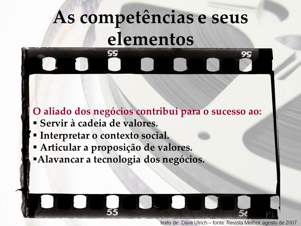 As competências e seus elementos