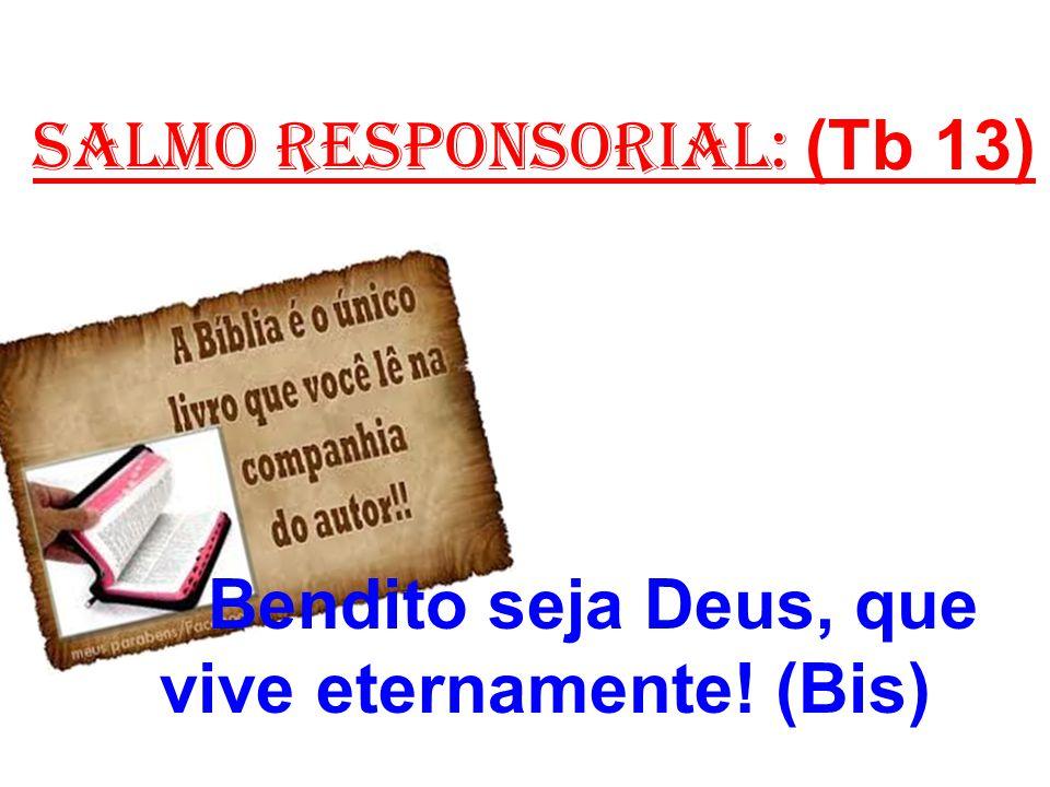 salmo responsorial: (Tb 13) Bendito seja Deus, que vive eternamente