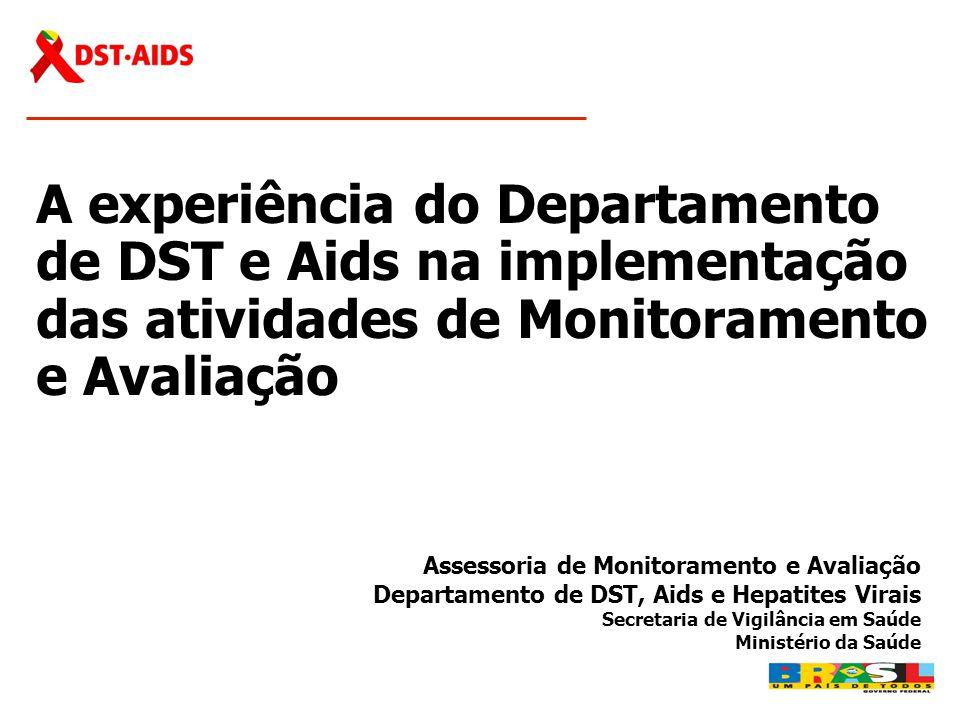 A experiência do Departamento de DST e Aids na implementação das atividades de Monitoramento e Avaliação