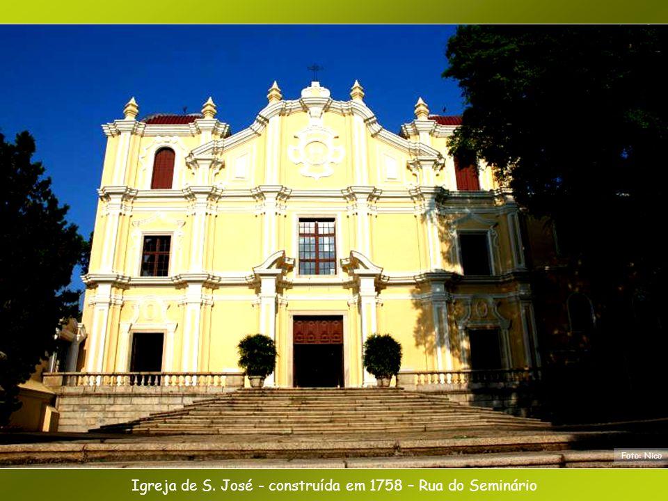 Igreja de S. José - construída em 1758 – Rua do Seminário