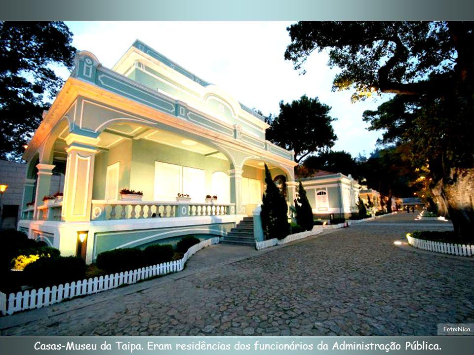 Foto:Nico Casas-Museu da Taipa. Eram residências dos funcionários da Administração Pública.