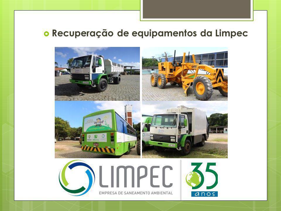 Recuperação de equipamentos da Limpec