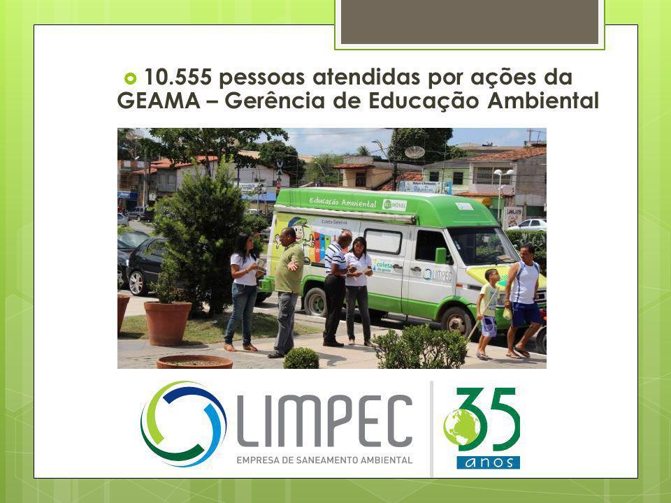 10.555 pessoas atendidas por ações da GEAMA – Gerência de Educação Ambiental