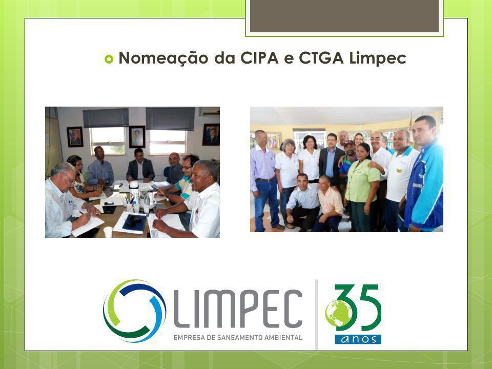 Nomeação da CIPA e CTGA Limpec