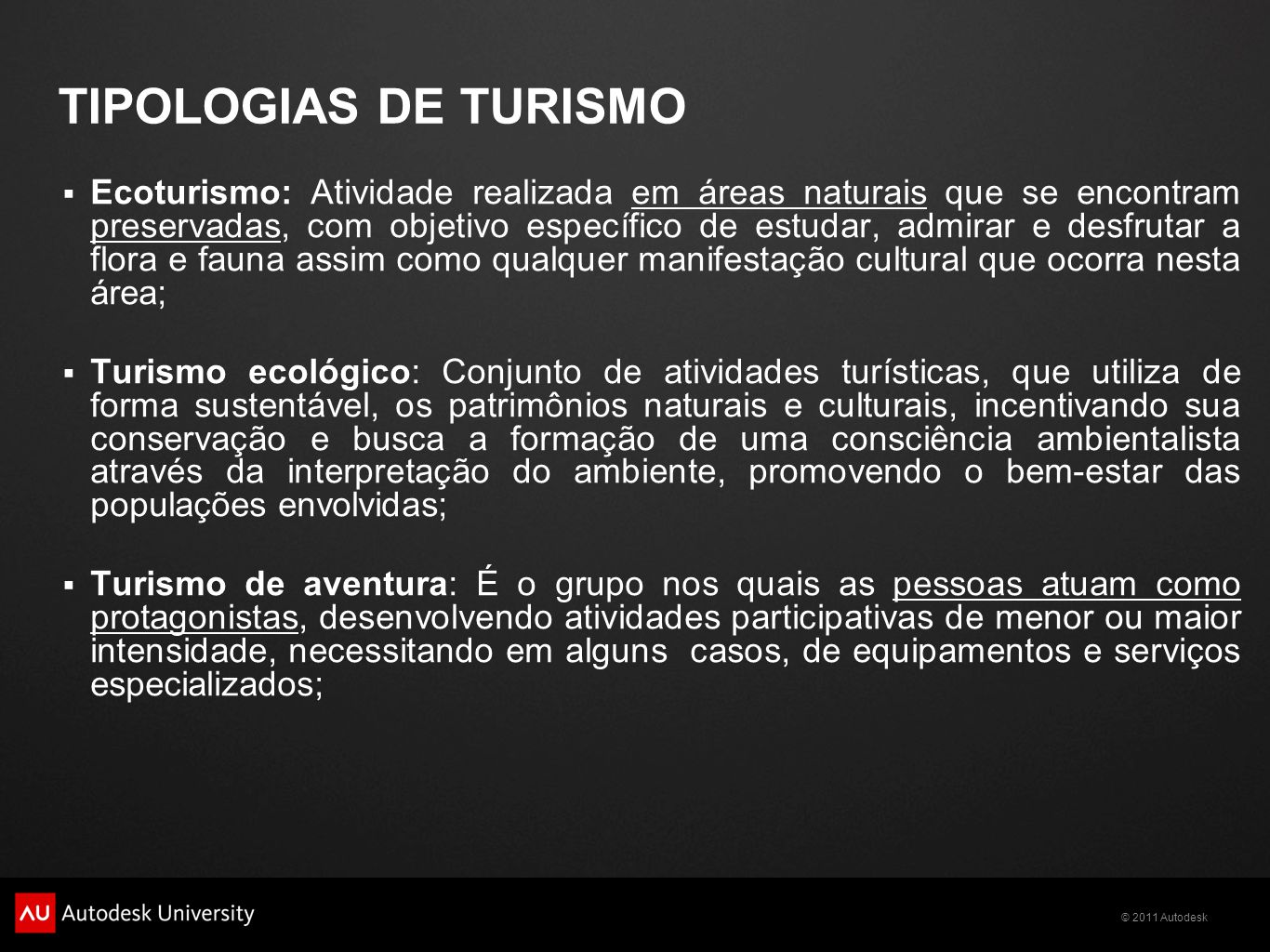 TIPOLOGIAS DE TURISMO