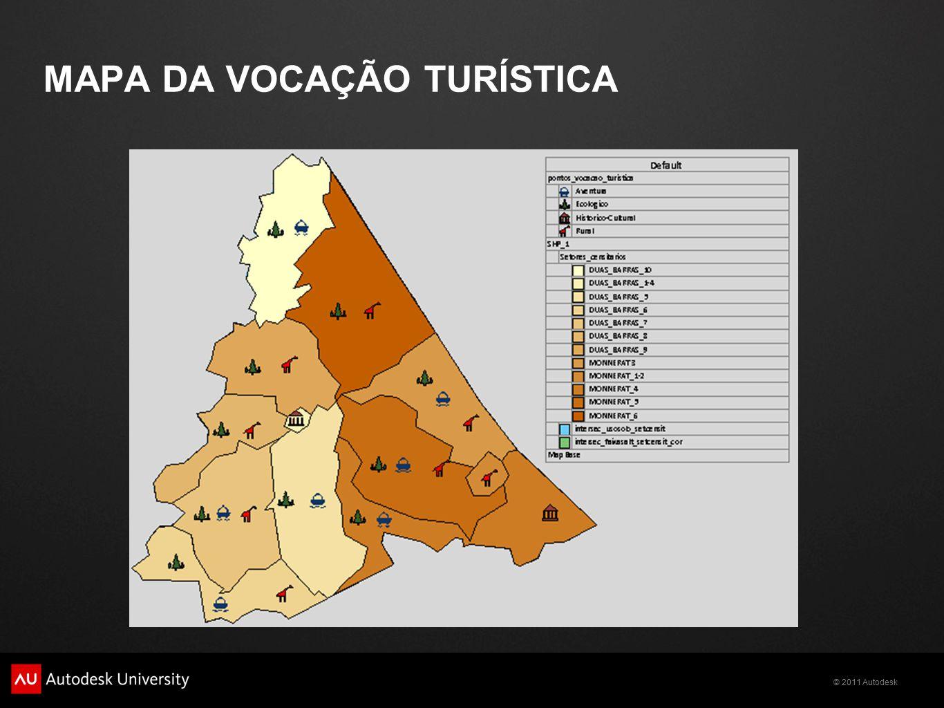 MAPA DA VOCAÇÃO TURÍSTICA