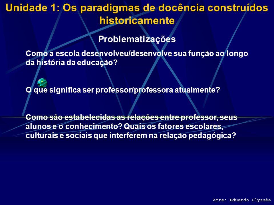 Unidade 1: Os paradigmas de docência construídos historicamente