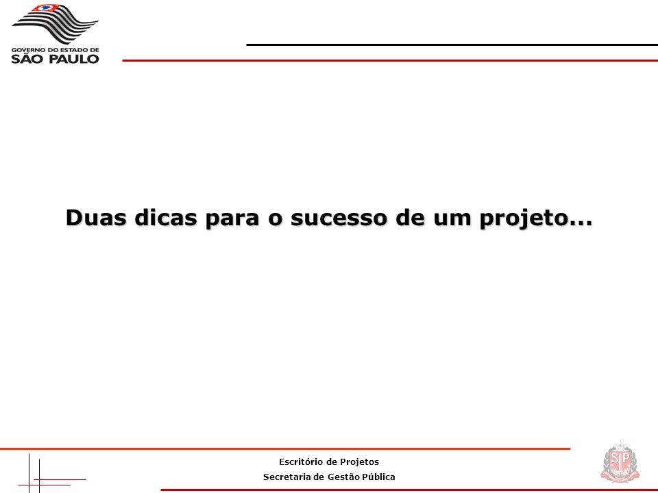 Duas dicas para o sucesso de um projeto...