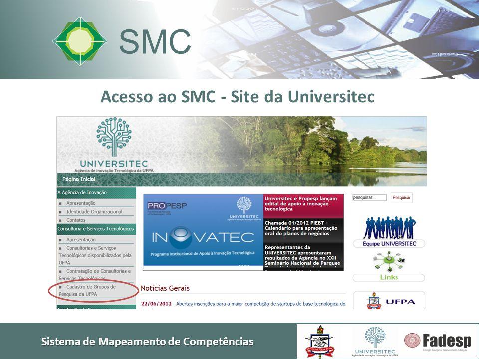 SMC Acesso ao SMC - Site da Universitec