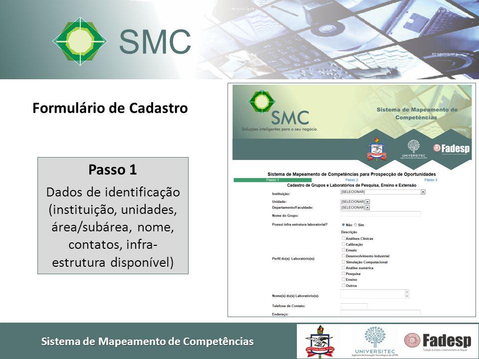 Formulário de Cadastro Sistema de Mapeamento de Competências