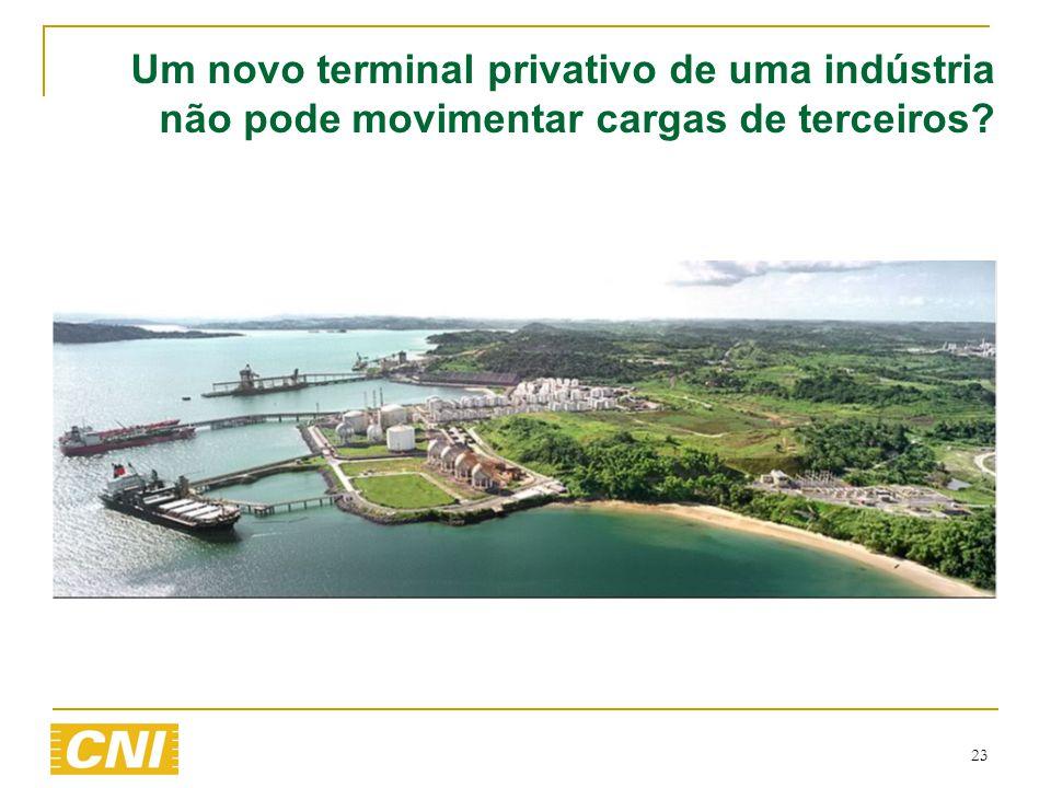 Um novo terminal privativo de uma indústria não pode movimentar cargas de terceiros