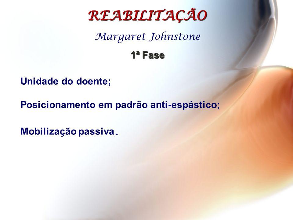 REABILITAÇÃO Margaret Johnstone 1ª Fase Unidade do doente;