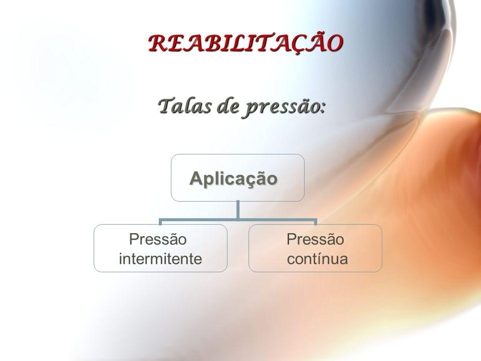 REABILITAÇÃO Talas de pressão: