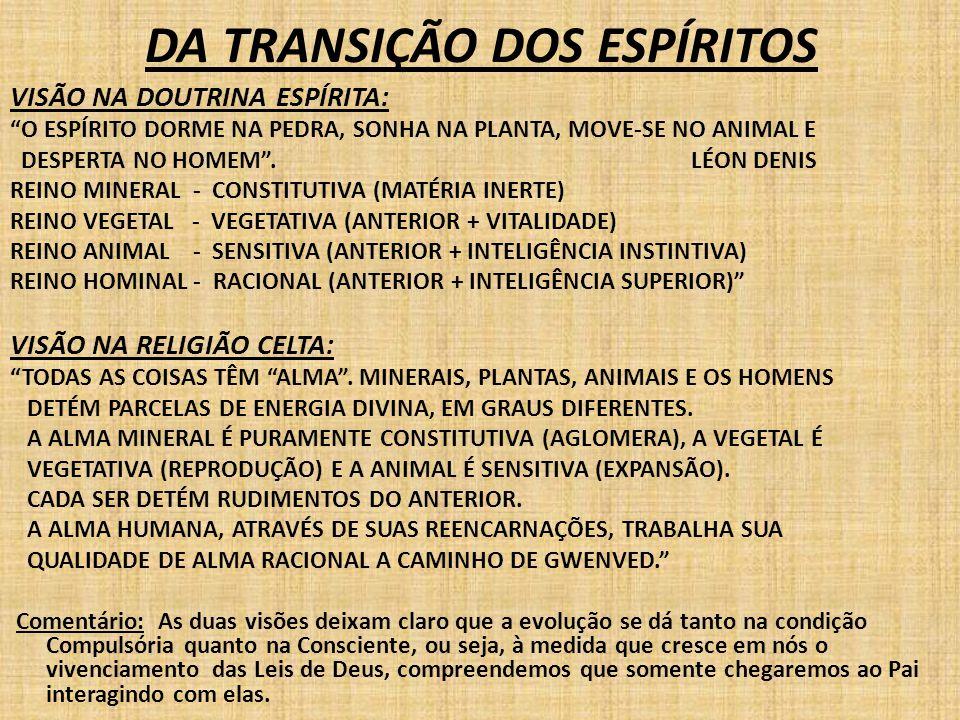 DA TRANSIÇÃO DOS ESPÍRITOS