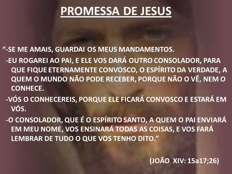 PROMESSA DE JESUS