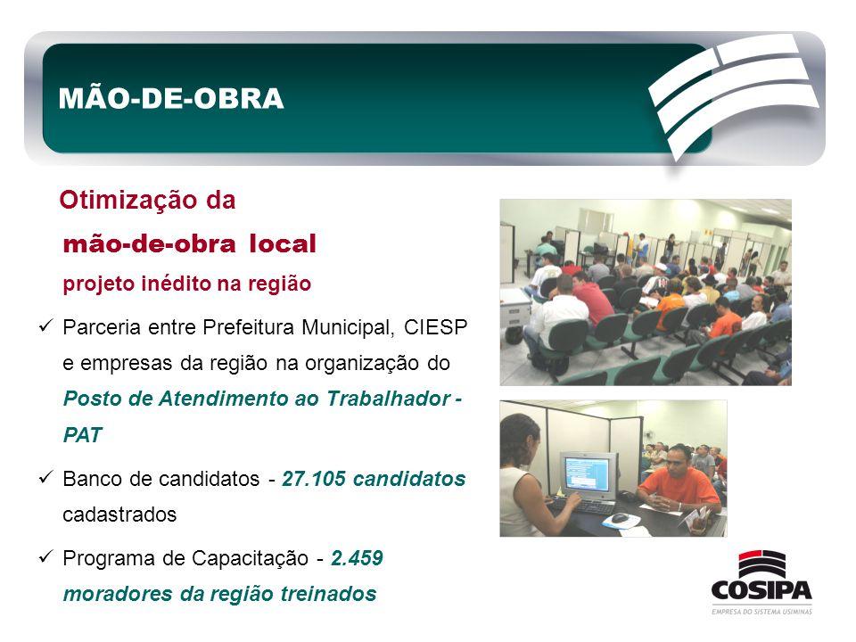 MÃO-DE-OBRA Otimização da mão-de-obra local projeto inédito na região