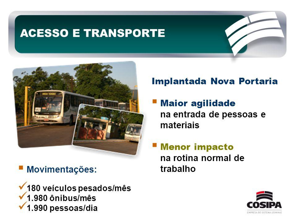 ACESSO E TRANSPORTE Implantada Nova Portaria