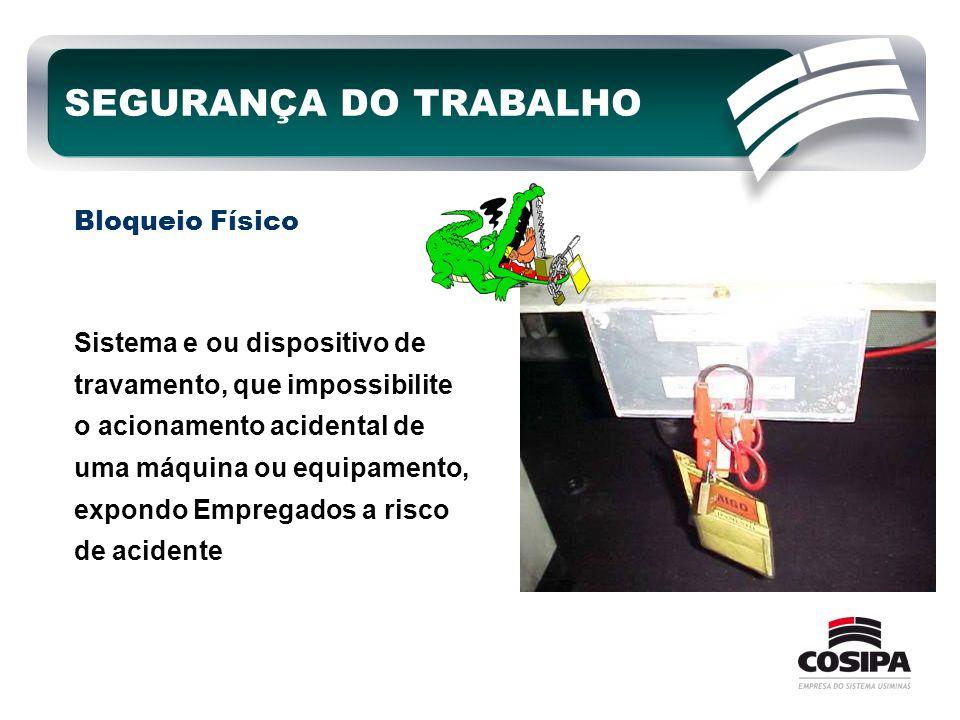 SEGURANÇA DO TRABALHO Bloqueio Físico