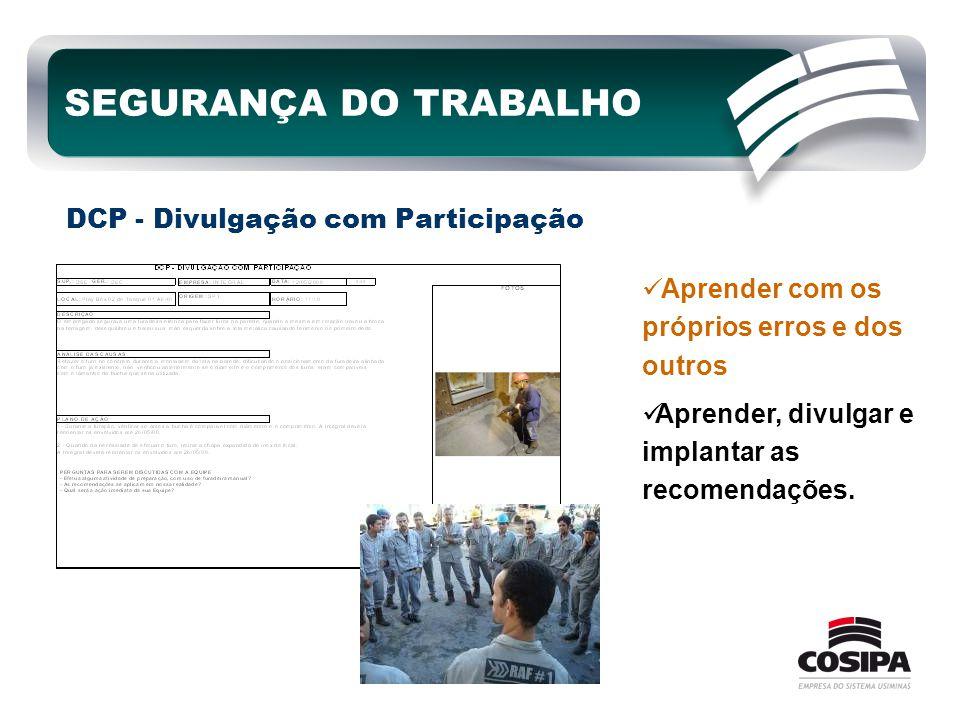 SEGURANÇA DO TRABALHO DCP - Divulgação com Participação
