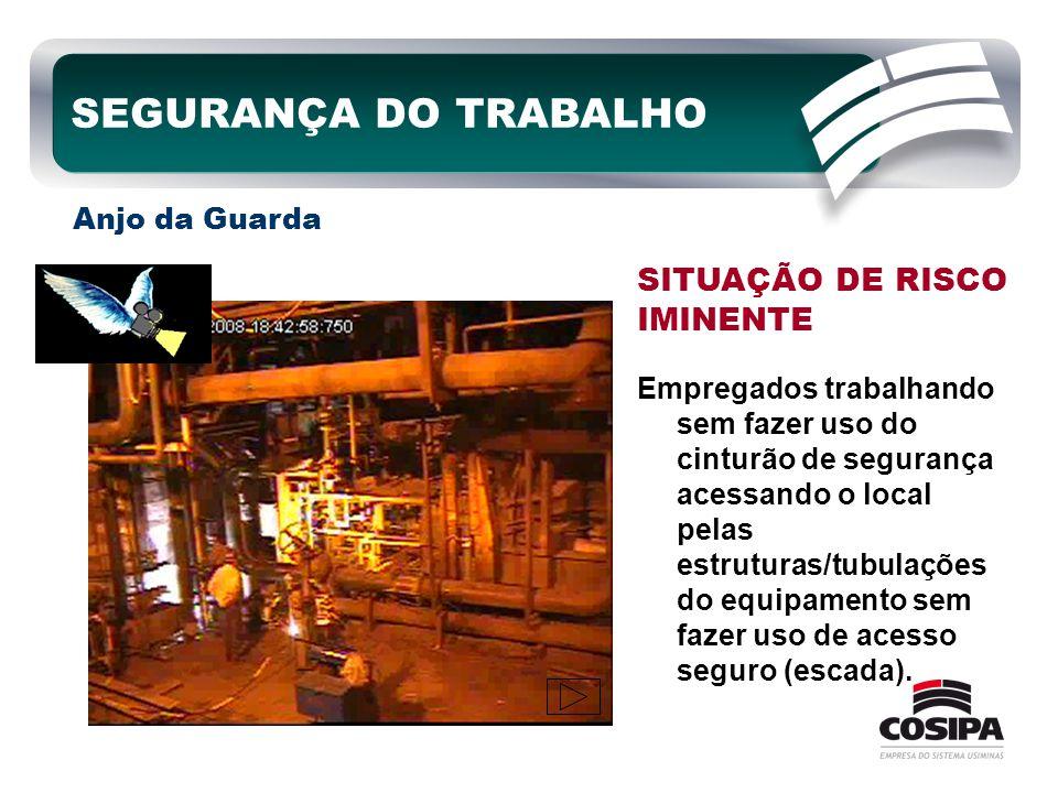 SEGURANÇA DO TRABALHO SITUAÇÃO DE RISCO IMINENTE Anjo da Guarda