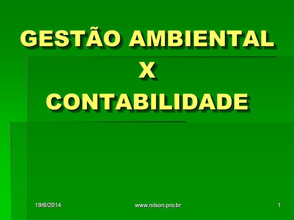GESTÃO AMBIENTAL X CONTABILIDADE
