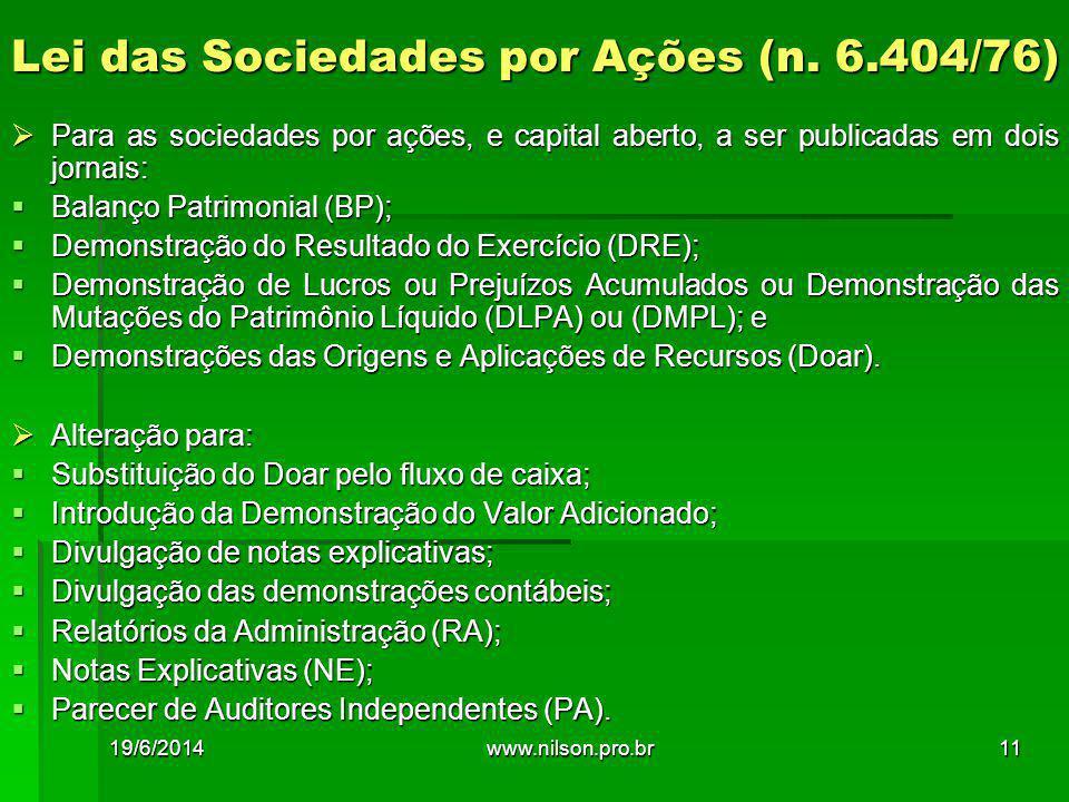 Lei das Sociedades por Ações (n. 6.404/76)