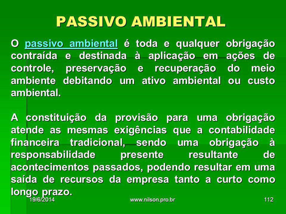 PASSIVO AMBIENTAL