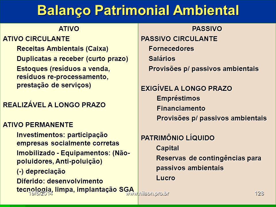 Balanço Patrimonial Ambiental