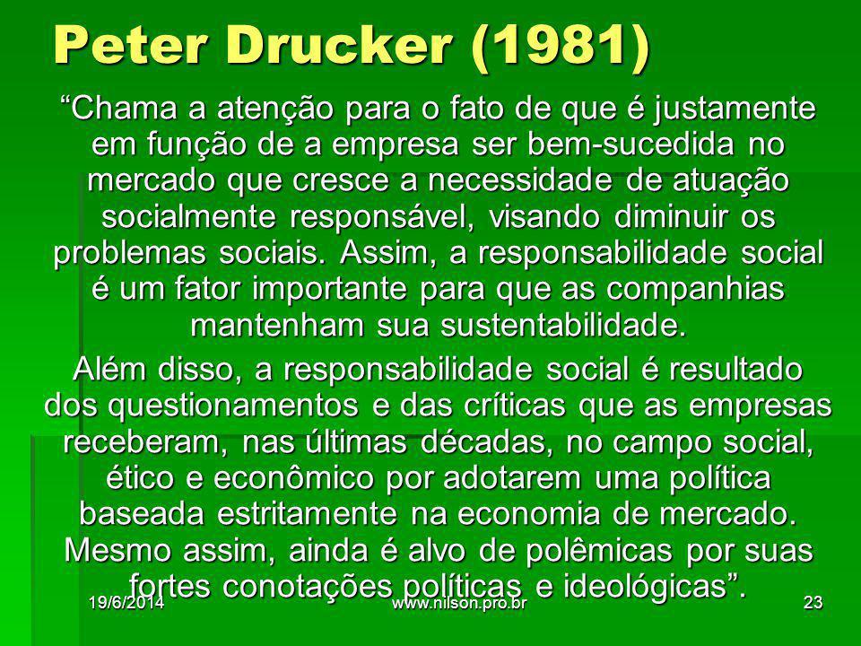 Peter Drucker (1981)