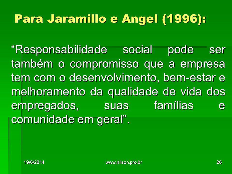 Para Jaramillo e Angel (1996):