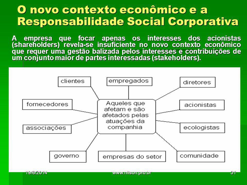 O novo contexto econômico e a Responsabilidade Social Corporativa