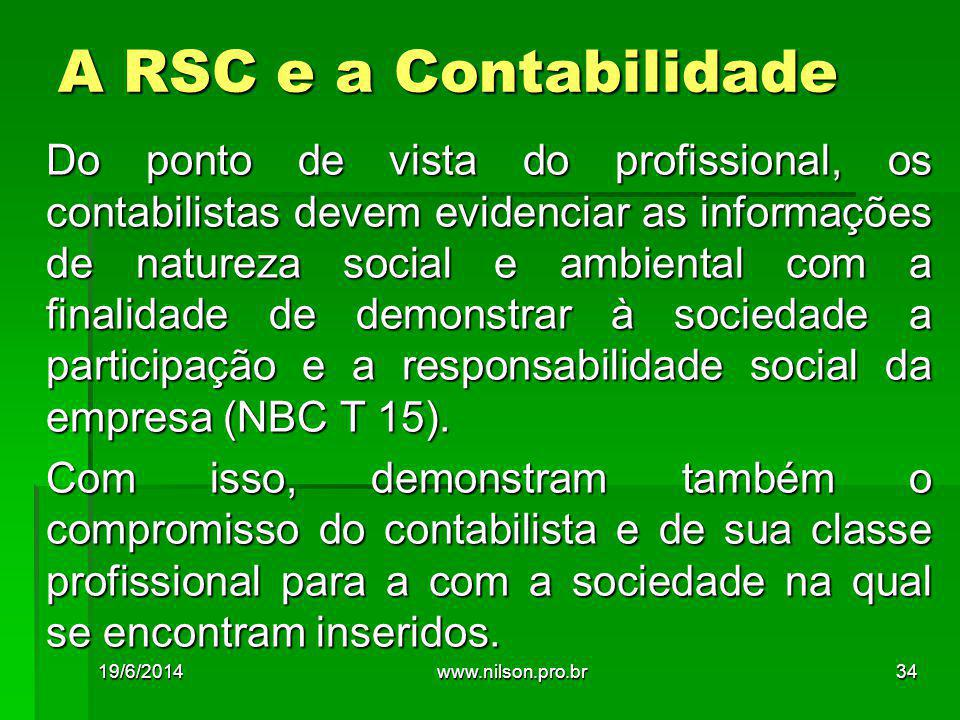 A RSC e a Contabilidade