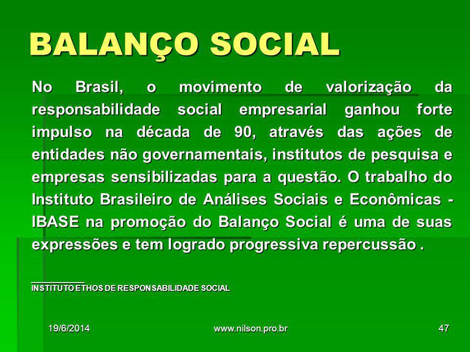 BALANÇO SOCIAL