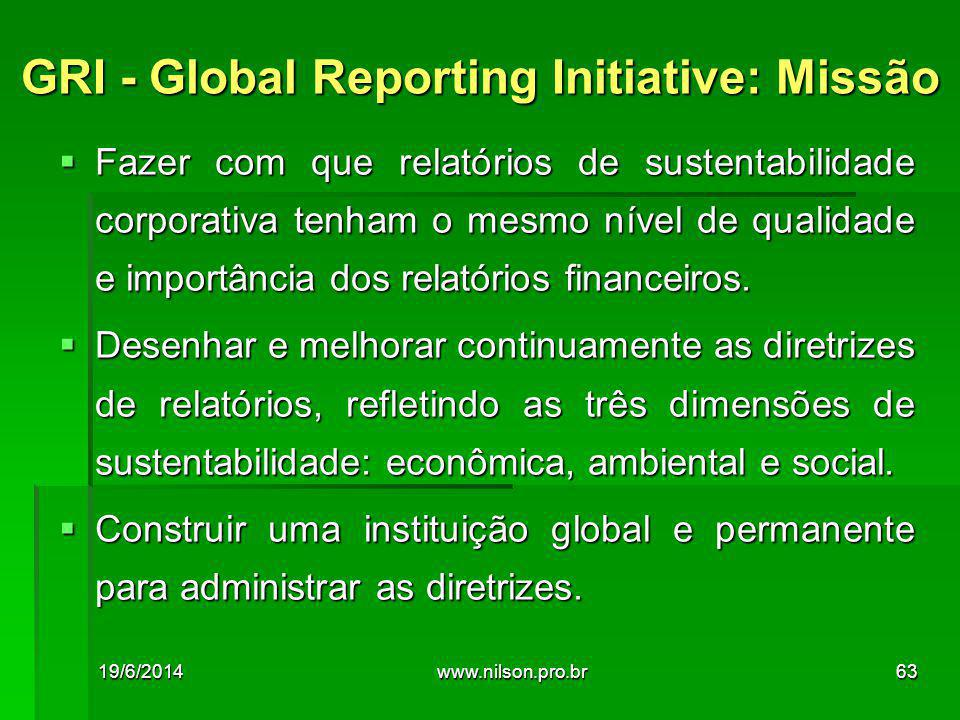 GRI - Global Reporting Initiative: Missão
