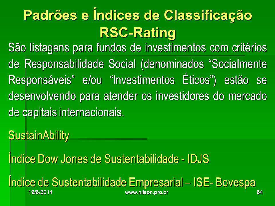 Padrões e Índices de Classificação RSC-Rating