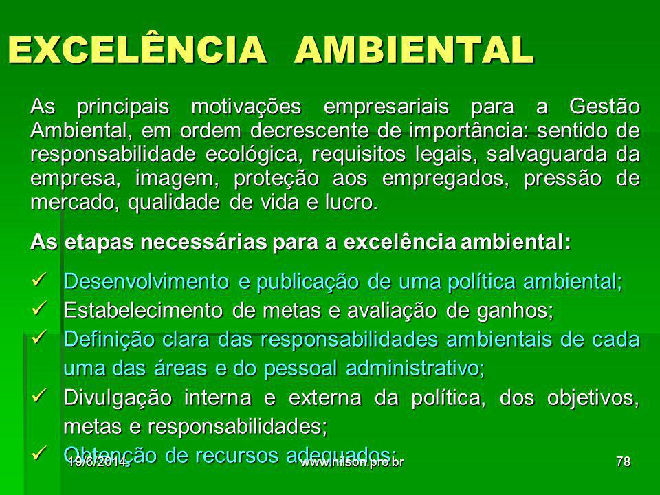 EXCELÊNCIA AMBIENTAL